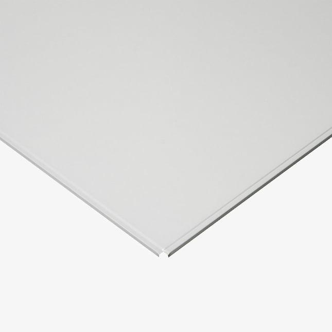 кассетный потолок матовый кромка Line 600х600 мм алюминевая белая эконом