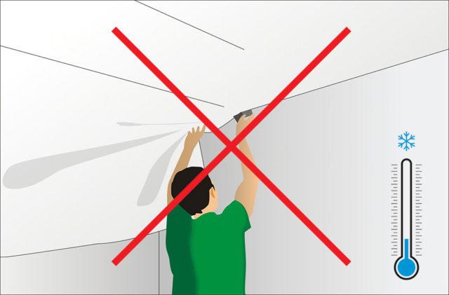 PVC-kalvoa ei voi asentaa lämmittämättömiin tiloihin