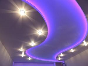Многоуровневые натяжные со светодиодной подсветкой