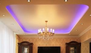 Монтаж натяжного потолока со светодиодной подсветкой