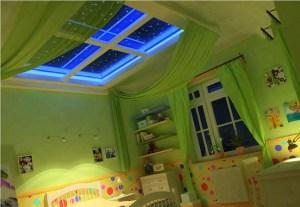 Многоуровневые натяжные потолки для детской