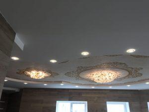 Двухуровневый потолок с фотопечатью