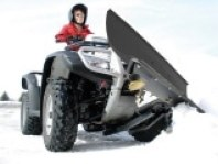 ATV with Snow Blade