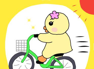 自転車をこぎながら瞑想するぴのり