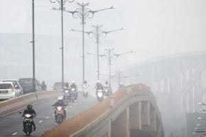 Pagi Ini Jarak Pandang di Riau Hanya 1 Kilometer