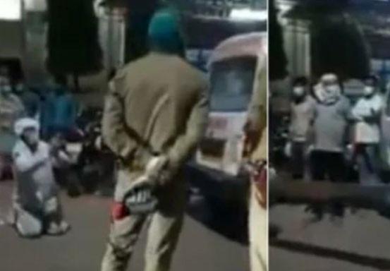 Anak Ini Sujud saat Polisi Rampas Tabung Oksigen Ibunya untuk Pasien VIP