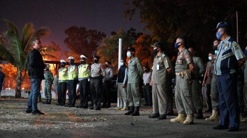 Hari Kedua, Tim Satgas Kampar Kembali Tertibkan Jam Malam di Bangkinang