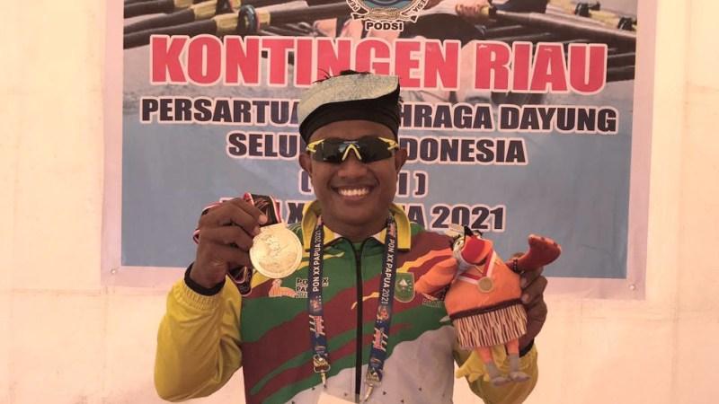 Raih Medali Emas PON XX Papua dari Cabang Dayung Canoeing Putera, Ini kata Maizir Riyondra