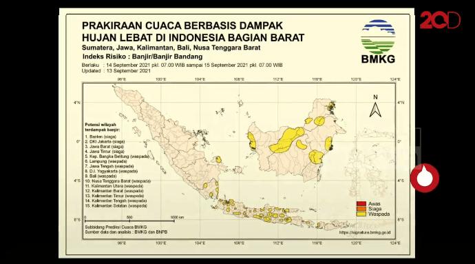 Prediksi Cuaca Ekstrem Bikin Waspada Potensi Banjir di Jabar dan DKI