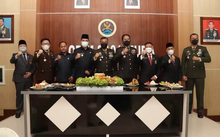 Di Markas Kodim 0401, Wabup Muba Beni Hernedi Bareng Forkopimda Meriahkan HUT TNI