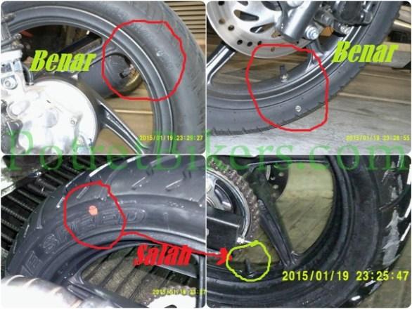2 photo atas (BENAR), yang bawah contoh SALAH.