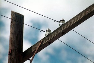 old telephone wires