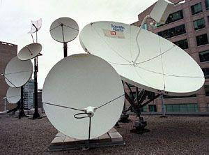 Satellite dish farm