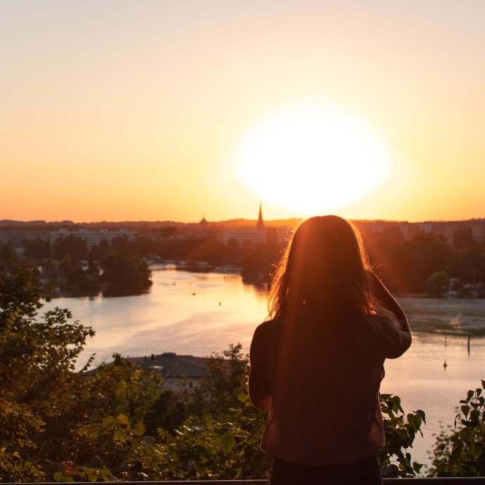 Sonnenuntergang über dem Templiner See