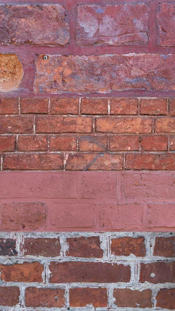 Collage der verschiedenen Backsteinfassaden, die das Holländische Viertel aufweist