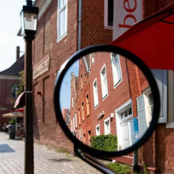 Holländisches Viertel im Rückspiegel