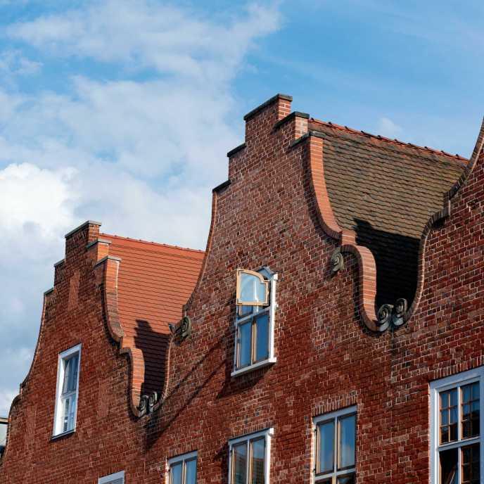 Giebelhäuser im Holländischen Viertel