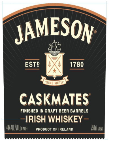 jameson caskmates rebrand front label