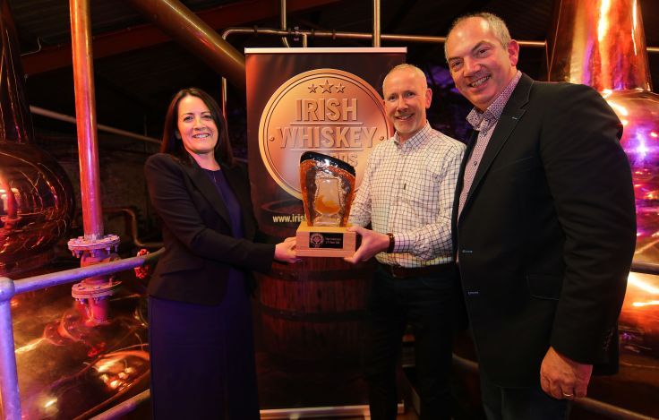 Bernard Walsh Accepting Award for The Irishman 17 YO for Irish Whiskey of the Year 2019.jpg
