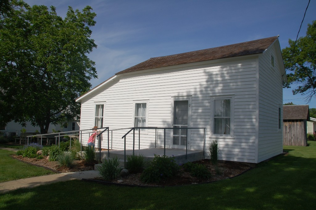 The surveyor's house where Laura lived when her family first moved to South Dakota. This house has been moved from its original site.