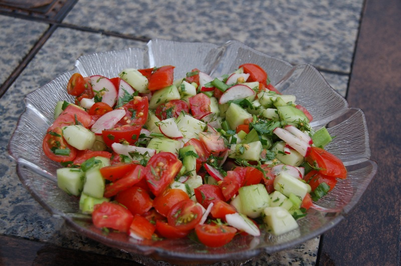 Tomato-and-Cucumber Salad with Dill