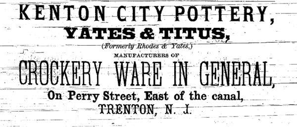 Kenton City Pottery Advertisement