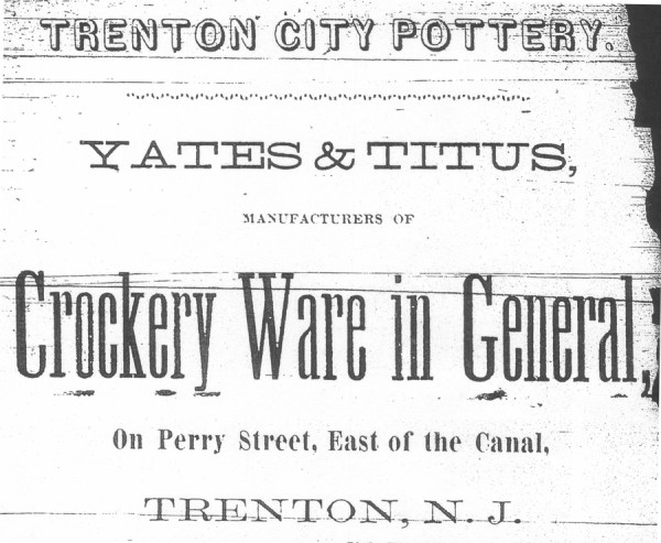 Trenton City Pottery Advertisement