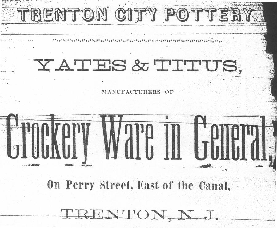 Trenton City Pottery Advertisement