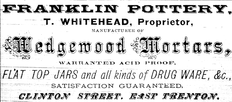 Franklin Pottery Advertisement
