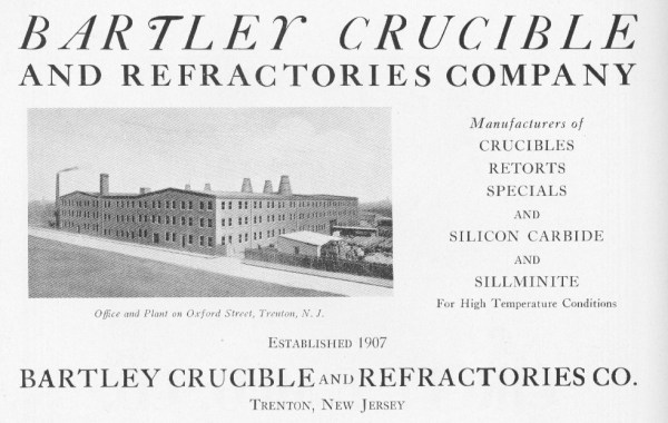 Bartley Crucible and Refractories Company Advertisement