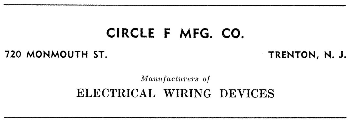 Circle F Manufacturing Company Advertisement