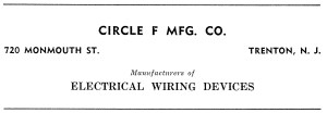 Circle F Manufacturing Company Advertisement