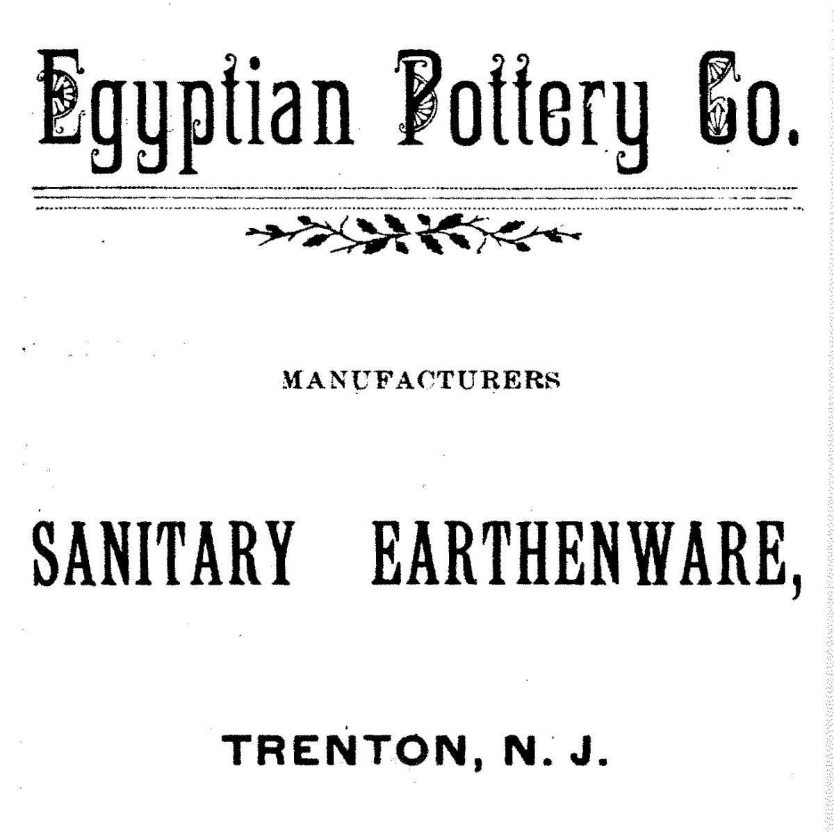 Egyptian Pottery Company Advertisement