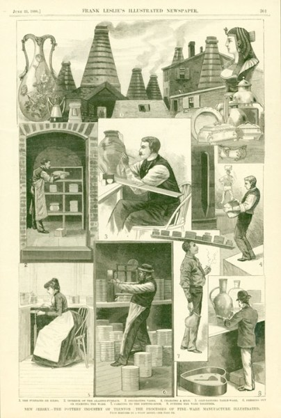 Frank Leslie's Illustrated Newspaper The Pottery Industry of Trenton June 23 1888