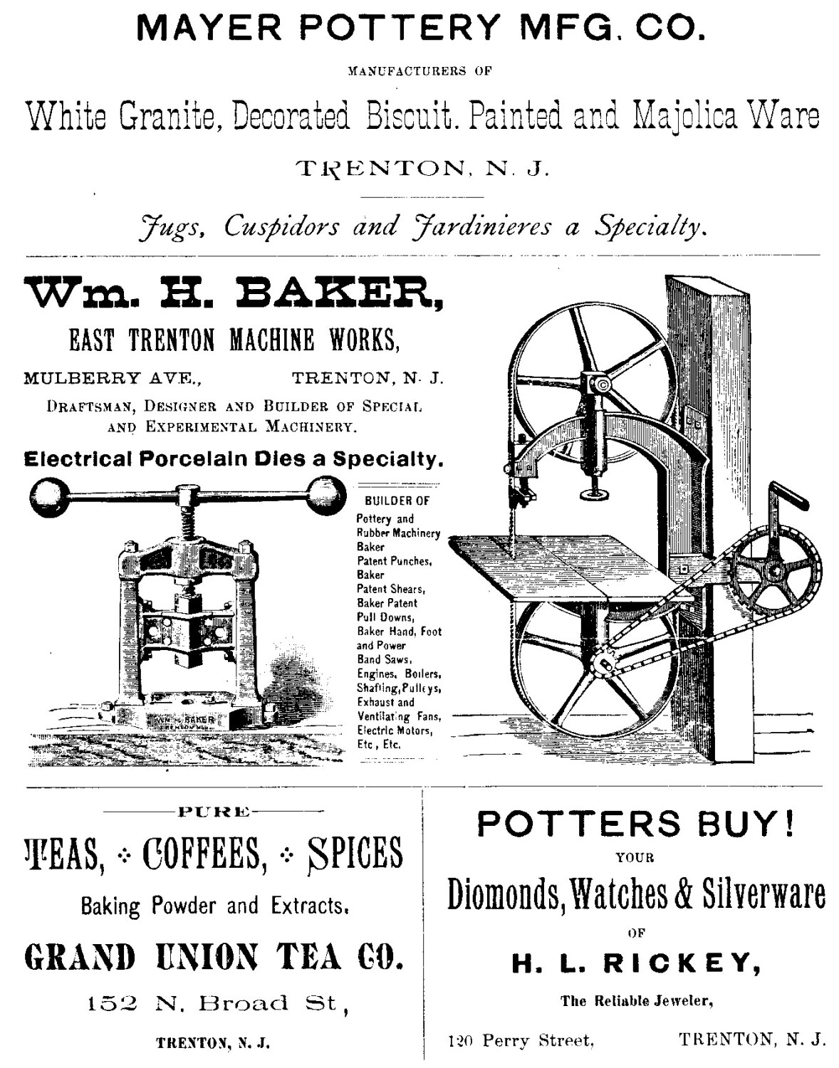 Mayer Pottery Company Advertisement