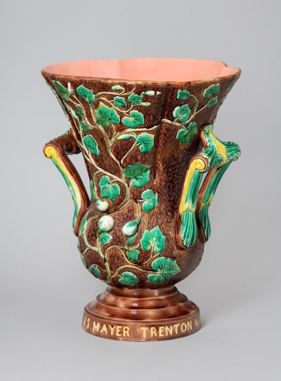 Mayer majolica vase