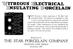 Star Porcelain Company Advertisement