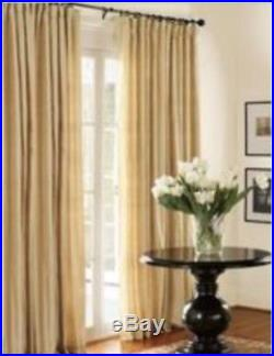 new set of two pottery barn silk dupioni pole top drapes 50x96 in parchment pottery barn curtains