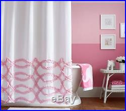 pottery barn kids ribbon ruffled shower curtain pink sold out pbk pottery barn curtains