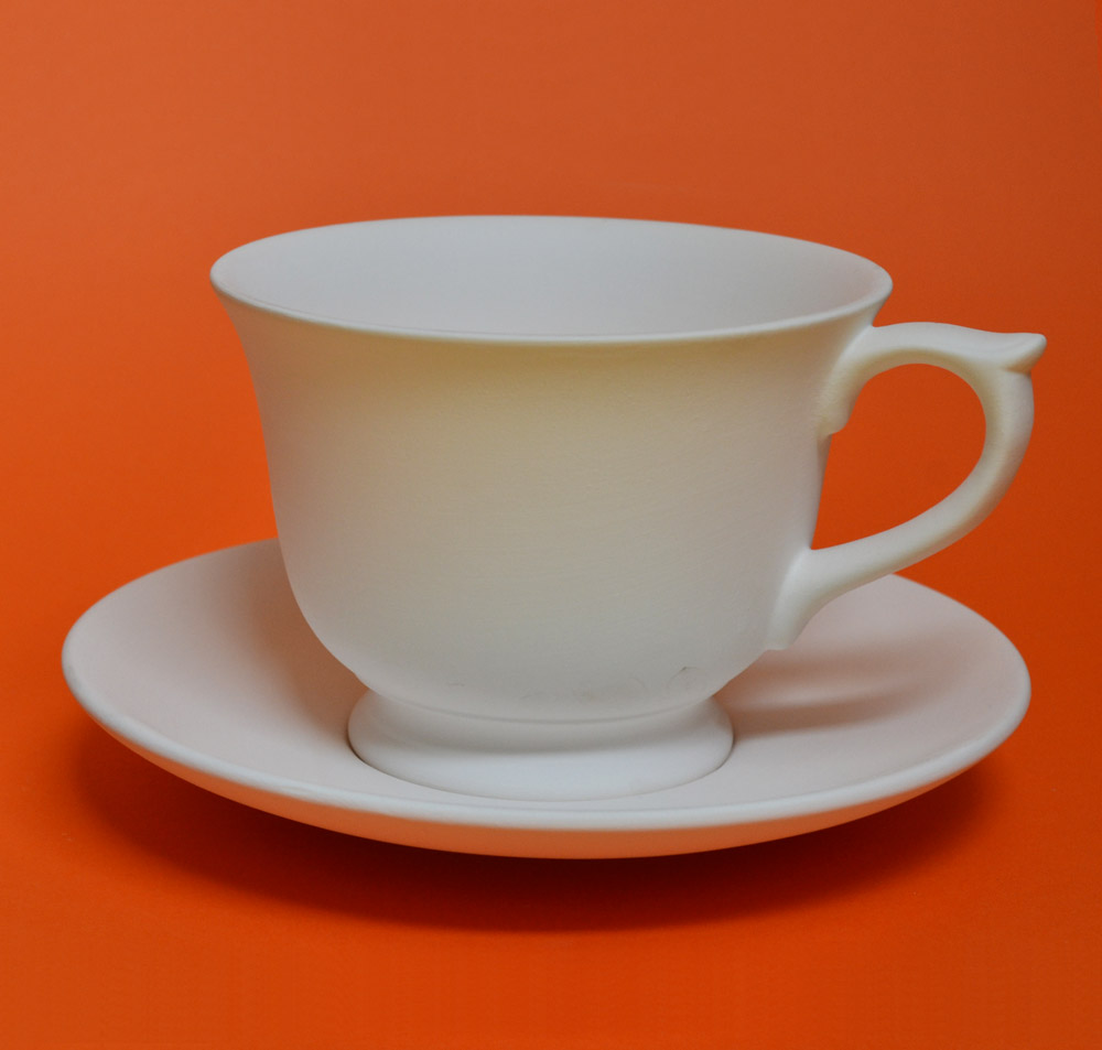 Large Teacup and Saucer  Pottery Caf
