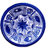 A typical Delftware plate