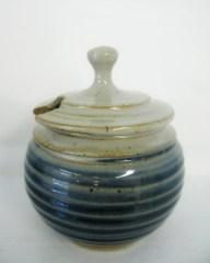 blue & white sugar bowl