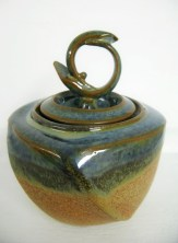zeller & mat altered lidded vessel