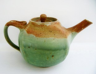 mat & green altered teapot