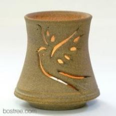 Stoneware Tea Light Luminary