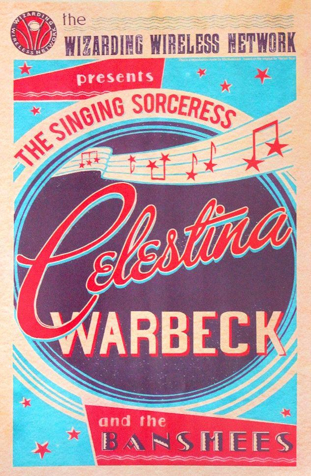 Plakát s pozvánkou na Celestýnin koncert.