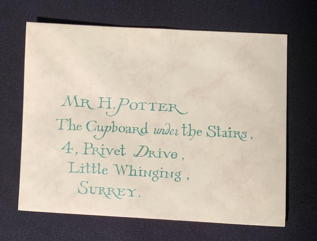 """Harryho dopis z Bradavic (z Kamene mudrců - """"dopisy od nikoho"""")"""