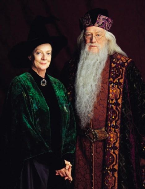 Minerva McGonagallová s Brumbálem z 1. dílu
