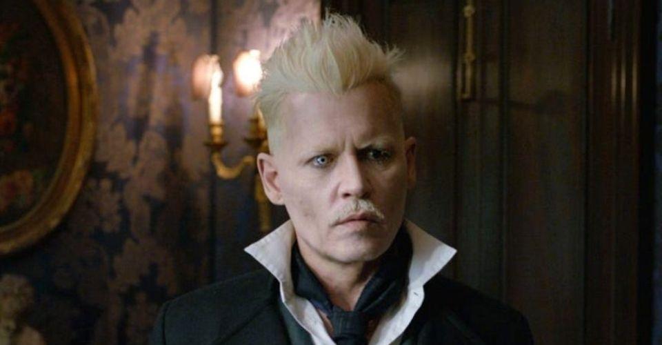 Udivený obličej Gellerta Grindelwalda.