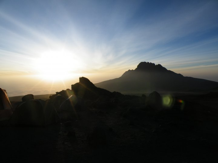 Sunrise from the summit